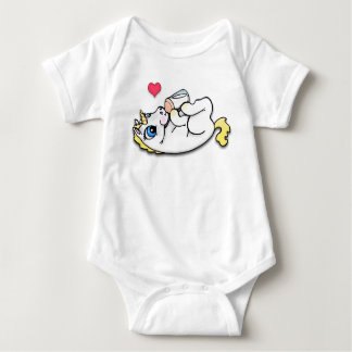 Baby unicorn feeding time - Blonde T-shirt