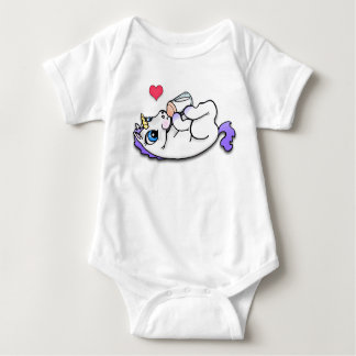 Baby unicorn feeding time - Purple Tshirts