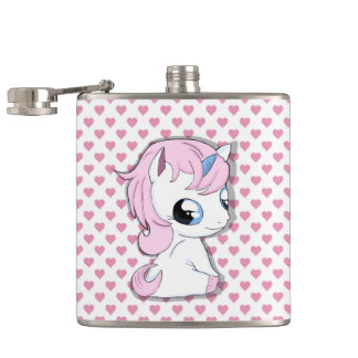 Baby unicorn hip flask