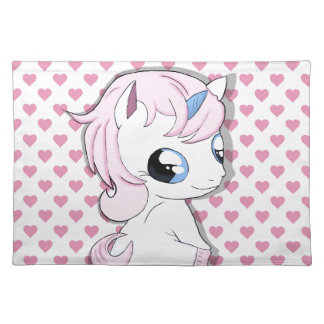 Baby unicorn placemat