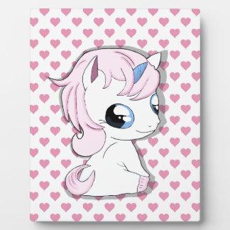 Baby unicorn plaque