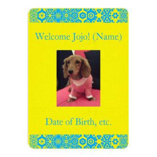 Baby Unisex Custom Photo Birth Announcement 4Jojo
