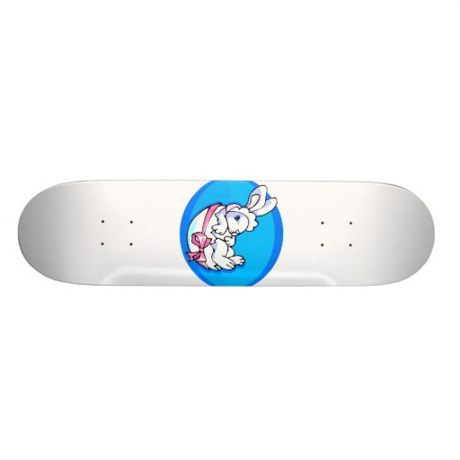 baby white bunny in egg blue oval.png skateboard deck