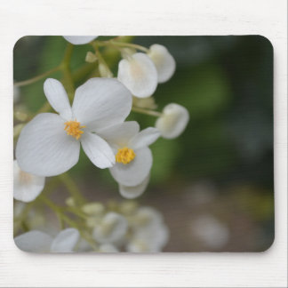 Baby White Flowers Mouse Pad