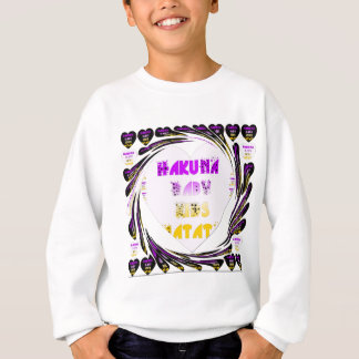 Baby White Hearts Hakuna Matata Baby Kids Design.p Sweatshirt