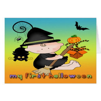 Baby Witch My 1st Halloween Greeting Card