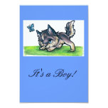 Baby Wolf Invites/Announcements 9 Cm X 13 Cm Invitation Card