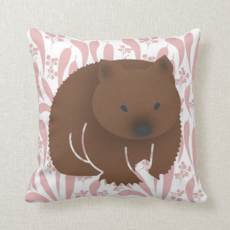 Baby Wombat on Pink Cushion
