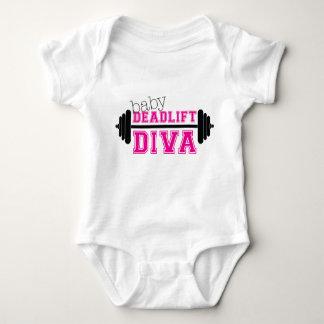 """baby workout onesiee- """"Deadlift Diva"""" Baby Bodysuit"""