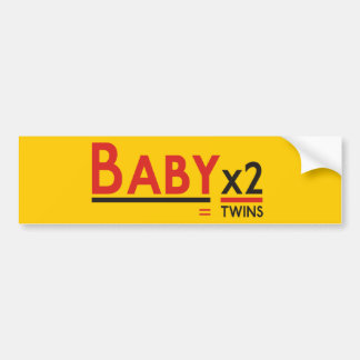 Baby x 2 car bumper sticker