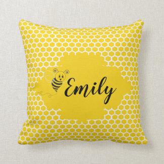 Baby Yellow White Bumble Bee Honeycomb Honey Cushion