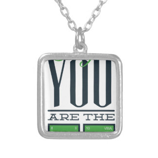 baby you are the one silver plated necklace