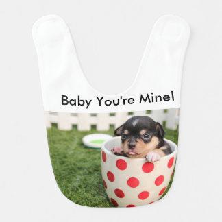 Baby You're Mine Baby bib