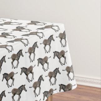 Baby Zebra Frenzy Tablecloth (White)