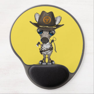Baby Zebra Zombie Hunter Gel Mouse Pad