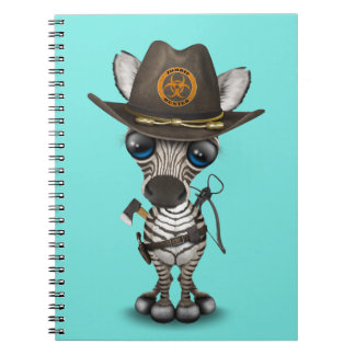 Baby Zebra Zombie Hunter Notebooks