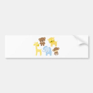 baby zoo animals bumper sticker