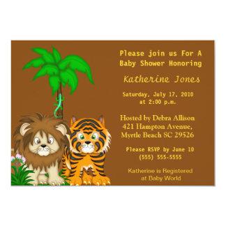 BabyAnimals Jungle Shower Invitation