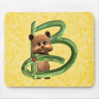 BabyBear Toon Monogram B Mouse Pad