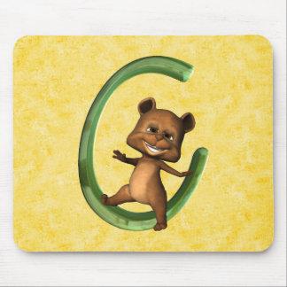 BabyBear Toon Monogram C Mouse Pad