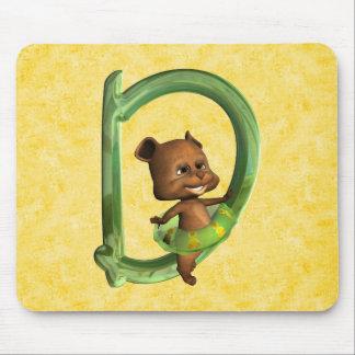 BabyBear Toon Monogram D Mouse Pad