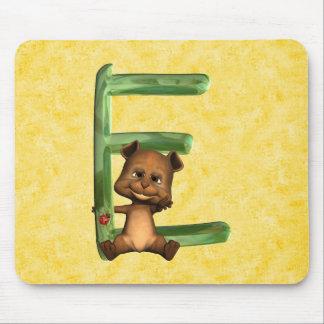 BabyBear Toon Monogram E Mouse Pad
