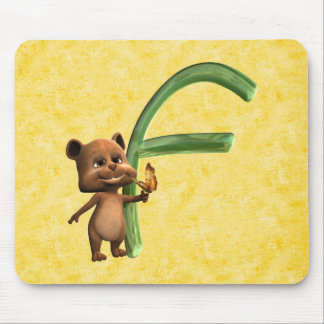 BabyBear Toon Monogram F Mouse Pad
