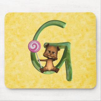 BabyBear Toon Monogram G Mouse Pad