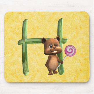 BabyBear Toon Monogram H Mouse Pad