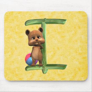 BabyBear Toon Monogram I Mouse Pad