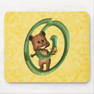 BabyBear Toon Monogram O Mouse Pad