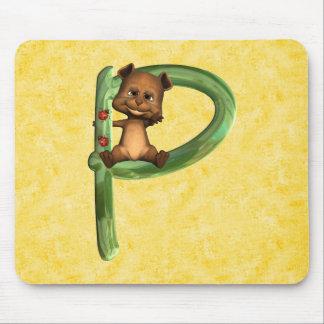 BabyBear Toon Monogram P Mouse Pad