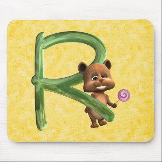 BabyBear Toon Monogram R Mouse Pad