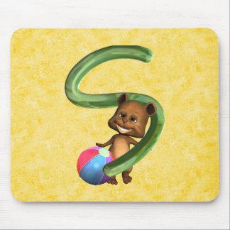 BabyBear Toon Monogram S Mouse Pad