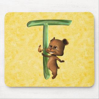 BabyBear Toon Monogram T Mouse Pad