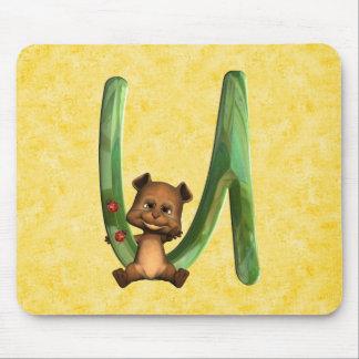 BabyBear Toon Monogram U Mouse Pad