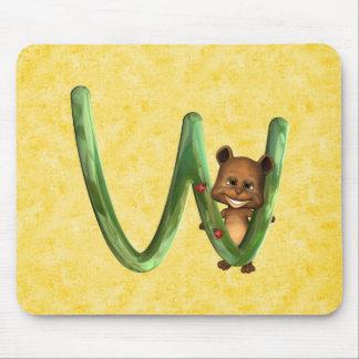 BabyBear Toon Monogram W Mouse Pad