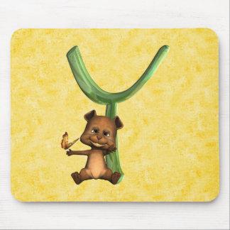 BabyBear Toon Monogram Y Mouse Pad