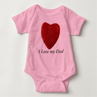Babybody I Love my Dad with heart Baby Bodysuit