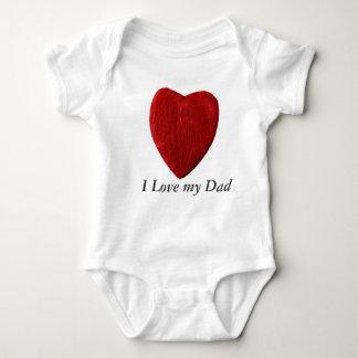Babybody I Love my Dad with heart Baby Bodysuit