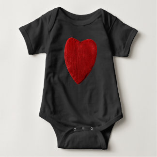 Babybody with red slate heart baby bodysuit