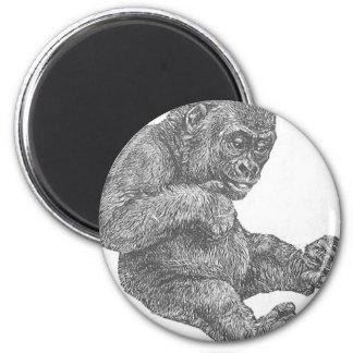 BabyGorilla 6 Cm Round Magnet