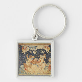 Babylon Invaded by Demons Silver-Colored Square Key Ring