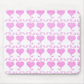 BabyPink Silken Shine Jewel Print Mouse Pad