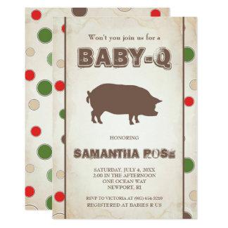 BabyQ Baby Shower, BBQ Baby Q Invite