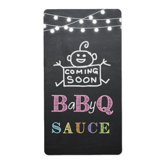 babyq sauce label / babyq sticker shipping label