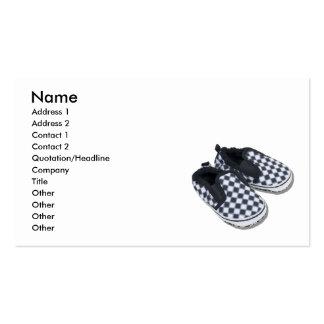 BabyRacingShoes101610, Name, Address 1, Address... Pack Of Standard Business Cards