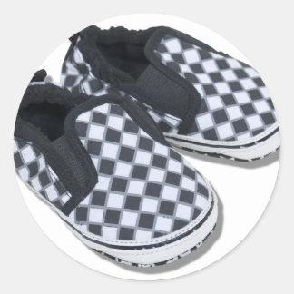 BabyRacingShoes101610 Round Sticker