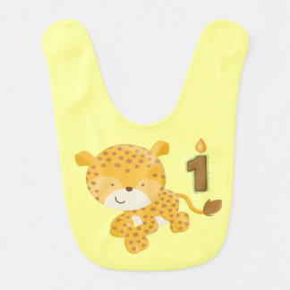 Baby's 1st Birthday Bib (Leopard)