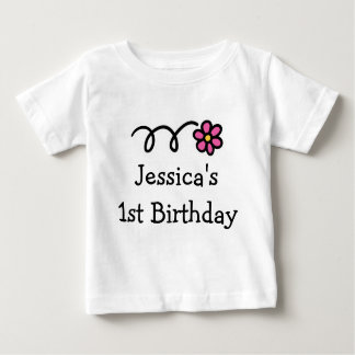 Babys 1st Birthday shirt | Personalized girl name